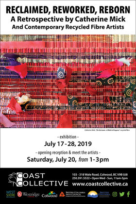 Reclaimed, Reworked, Reborn: Catherine Mick @ Coast Collective Art Centre Jul 17 2019 - Apr 4th @ Coast Collective Art Centre