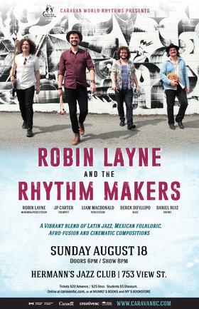 Caravan World Rhythms presents ROBIN LAYNE AND THE RHYTHM MAKERS @ Hermann's Jazz Club Aug 18 2019 - Oct 28th @ Hermann's Jazz Club