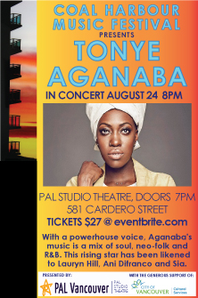 Tonye Aganaba @ PAL Studio Theatre Aug 24 2019 - Oct 14th @ PAL Studio Theatre