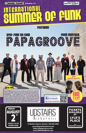 PAPAGROOVE, Fake Fake @ The Upstairs Cabaret Aug 2 2019 - Jan 28th @ The Upstairs Cabaret