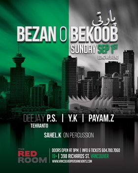 Bezan O Bekoob Party @ The Red Room Sep 1 2019 - Sep 22nd @ The Red Room