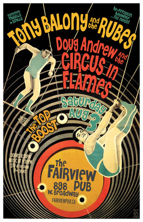Saturday of Reckoning!: Tony Balony & The Rubes, Circus In Flames, Top  Boost @ Fairview Pub Aug 3 2019 - Oct 14th @ Fairview Pub
