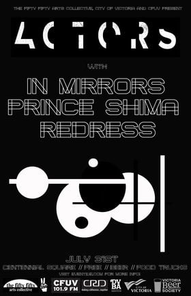 Eventide: the fifty fifty arts collective presents: ACTORS , In Mirrors, Prince Shima, Redress @ Centennial Square Jul 31 2019 - Nov 19th @ Centennial Square
