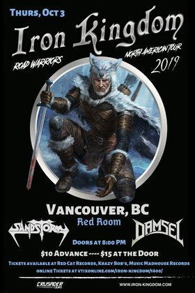 Iron Kingdom, Sandstorm, Damsel @ The Red Room Oct 3 2019 - Oct 17th @ The Red Room