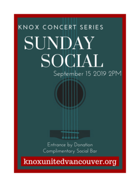 Sinéad White, Christina Hutten @ Knox United Church Sep 15 2019 - Sep 17th @ Knox United Church