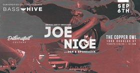 Bass Hive XIV feat.: JOE NICE, Den, Sporradik @ Copper Owl Sep 6 2019 - Oct 16th @ Copper Owl