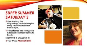 Super Summer Saturdays on the Patio: Ana Bon Bon @ Billy Bishop Legion Auditorium Aug 24 2019 - Oct 14th @ Billy Bishop Legion Auditorium