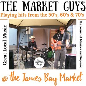Weekly Live Local Music: Martini '65, Spiral Swing , The Market Guys @ James Bay Market Society Aug 31 2019 - Apr 18th @ James Bay Market Society