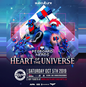 Heart of the Universe: Pegboard Nerds @ The Red Room Oct 5 2019 - Oct 22nd @ The Red Room