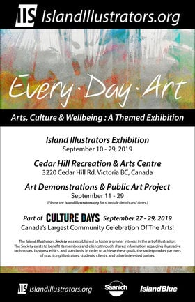 every.day.art: Island Illustrators Society members @ The Arts Centre at Cedar Hill  Sep 11 2019 - Mar 8th @ The Arts Centre at Cedar Hill