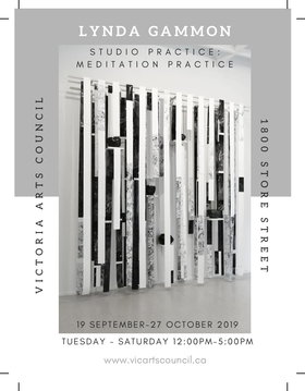 Studio Practice: Meditation Practice: Lynda Gammon @ Victoria Arts Council Sep 19 2019 - Feb 22nd @ Victoria Arts Council