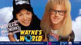 Victoria Film Fest presents: Wayne's World @ The Phillips Backyard (at Phillips Brewery) - Sep 21 2019 - Sep 21st @ The Phillips Backyard (at Phillips Brewery) -
