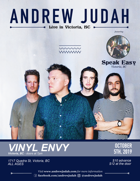 Andrew Judah (Kelowna, BC), Speak Easy - Victoria @ Vinyl Envy Oct 5 2019 - May 26th @ Vinyl Envy