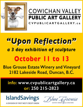 """Upon Reflection"" @ Blue Grouse Estate Winery Oct 13 2019 - Oct 15th @ Blue Grouse Estate Winery"