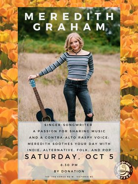 Meredith Graham @ Gorge-ous Coffee Oct 5 2019 - Sep 23rd @ Gorge-ous Coffee