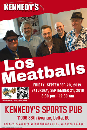 Do not enter Artists, Dates, Venues, Promoters, etc. in this field.: Los Meatballs @ Kennedy's Pub Sep 20 2019 - Oct 19th @ Kennedy's Pub