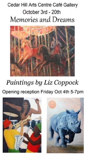 Exhibition: Memories and Dreams: Liz Coppock @ The Arts Centre at Cedar Hill  Oct 3 2019 - Mar 8th @ The Arts Centre at Cedar Hill