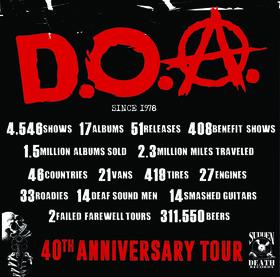 Canada's legendary Punk Kings: D.O.A., Antimatter, 13th Legion @ Hawaiian Brians Jan 12 2020 - Oct 17th @ Hawaiian Brians