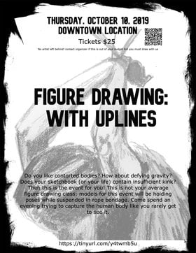 Figure Drawing, with Up-lines @ Downtown Victoria Oct 10 2019 - Oct 17th @ Downtown Victoria