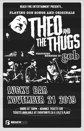 Theo and the Thugs @ Lucky Bar Nov 21 2019 - Jul 12th @ Lucky Bar
