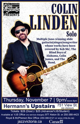 Colin Linden @ Hermann's Upstairs Nov 7 2019 - Apr 9th @ Hermann's Upstairs