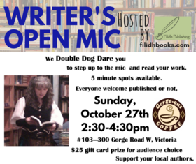 Writer's Open Mic: Filidh Publishing @ Gorge-ous Coffee Oct 27 2019 - Sep 23rd @ Gorge-ous Coffee