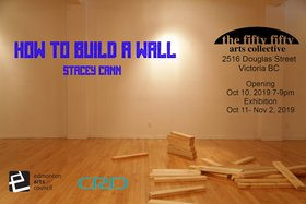 How to Build a Wall: Stacey Cann @ the fifty fifty arts collective Oct 11 2019 - Jul 6th @ the fifty fifty arts collective