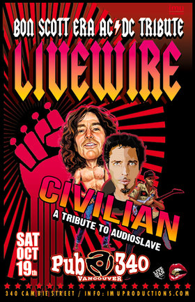 Livewire, Civilian  @ Pub 340 Oct 19 2019 - Oct 19th @ Pub 340