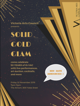 SOLID GOLD GLAM: VAC 50th ANNIVERSARY PARTY @ The Atrium Nov 22 2019 - Feb 22nd @ The Atrium