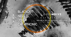 Bass Hive XV - 2nd Year anniversary: Blackout , NESS T, Lyssa, Cataphonic @ Copper Owl Oct 11 2019 - Oct 17th @ Copper Owl