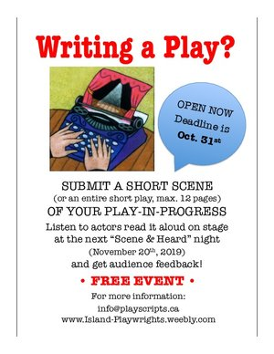 PLAYWRIGHTS - SUBMIT A SHORT SCENE