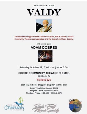 Vadly: Valdemar Horsdahl, adam dobres @ Sooke Community Theatre at EMCS Oct 19 2019 - Apr 3rd @ Sooke Community Theatre at EMCS