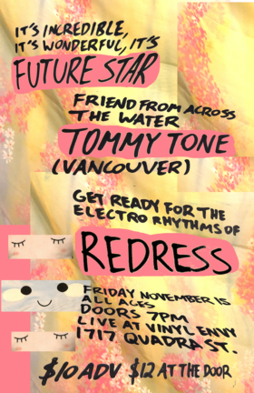 Future Star (Victoria, BC), Tommy Tone  (Vancouver, BC), Redress (Victoria, BC) @ Vinyl Envy Nov 15 2019 - Sep 18th @ Vinyl Envy