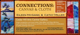 Connections: Canvas & Cloth: Eileen McGann, Cathy Miller @ The Arts Centre at Cedar Hill  Oct 2 2019 - Jul 14th @ The Arts Centre at Cedar Hill