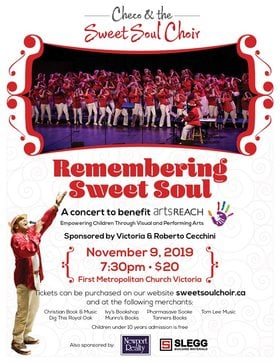 Remembering Sweet Soul - special benefit concert for ArtsReach: Sweet Soul Choir @ First Metropolitan United Church Nov 9 2019 - Apr 20th @ First Metropolitan United Church