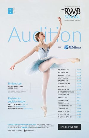 ROYAL WINNIPEG BALLET SCHOOL VICTORIA AUDITIONS