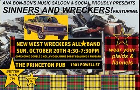 Sinners and Wreckers Music Saloon: Ana Bon Bon, Gord Smithers @ Princeton Pub Oct 20 2019 - Apr 6th @ Princeton Pub