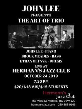 JOHN LEE: THE ART OF TRIO @ Hermann's Jazz Club Oct 24 2019 - Oct 18th @ Hermann's Jazz Club