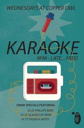 Karaoke Wednesdays: feat. you yah rockstar! @ Copper Owl Jan 15 2020 - Oct 20th @ Copper Owl