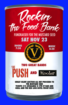 Rockin' The Food Bank: Kooler, Don Peterson & The Push Band  @ V-lounge Nov 23 2019 - Oct 22nd @ V-lounge