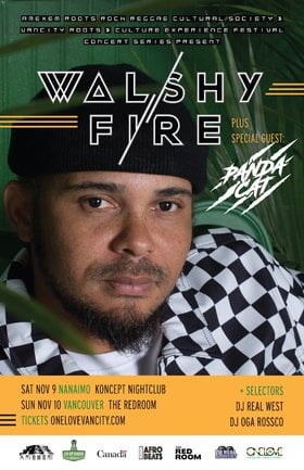 "Walshy Fire ""Abeng"" BC Tour @ The Red Room Nov 10 2019 - Jun 5th @ The Red Room"