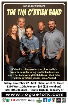Tim O'Brien Band, The Burying Ground @ Mel Lehan Hall at St. James Nov 22 2019 - Feb 25th @ Mel Lehan Hall at St. James