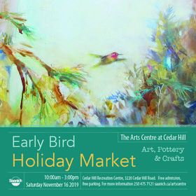 Early Bird Holiday Market: Cedar Hill Studio Artists @ The Arts Centre at Cedar Hill  Nov 16 2019 - Mar 8th @ The Arts Centre at Cedar Hill