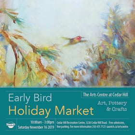 Early Bird Holiday Market: Cedar Hill Studio Artists @ The Arts Centre at Cedar Hill  Nov 16 2019 - Jul 14th @ The Arts Centre at Cedar Hill