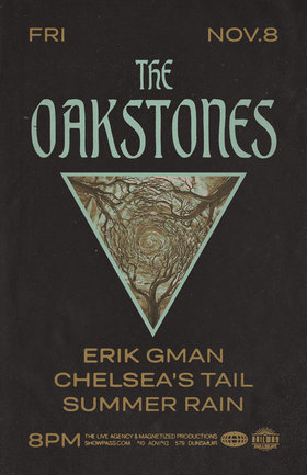 Oakstones + Guests: The Railway Stage: The Oakstones, Summer Rain, Chelsea's Tail, Erik Gman @ Railway Club Nov 8 2019 - Feb 24th @ Railway Club