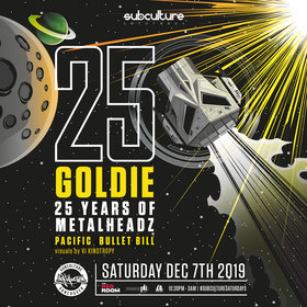 Goldie 25 years of Metalheadz tour @ The Red Room Dec 7 2019 - Jun 5th @ The Red Room