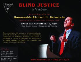 Blind Justice: Justice Richard Bernstein @ Bob Wright Centre - University of Victoria Nov 16 2019 - Oct 17th @ Bob Wright Centre - University of Victoria
