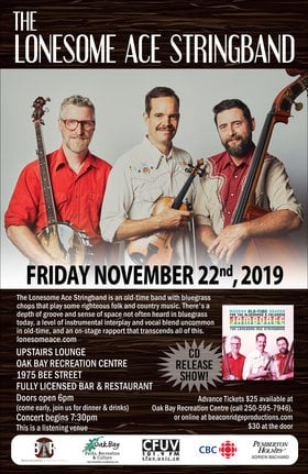 Lonesome Ace Stringband @ Recreation Oak Bay Nov 22 2019 - Nov 14th @ Recreation Oak Bay