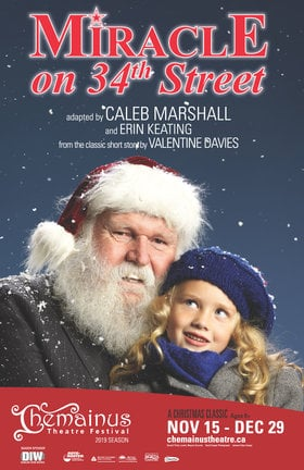 Miracle on 34th Street @ Chemainus Theatre Festival Dec 27 2019 - Dec 13th @ Chemainus Theatre Festival