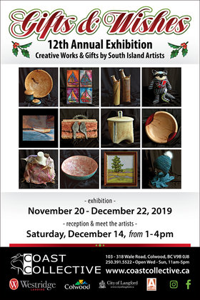 Gifts & Wishes - 12th Annual Exhibition @ Coast Collective Art Centre Nov 20 2019 - Apr 4th @ Coast Collective Art Centre